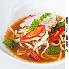 assam laksa, asian malaysian food