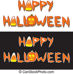 Happy Halloween Words - The drawn words happy halloween with...