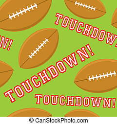 Seamless Touchdown - A seamless pattern of the word...