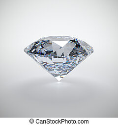 Diamond - 3D illustration of diamond isolated on white...
