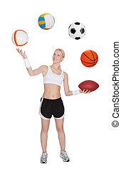 Beautiful young fitness woman - Beautiful slim fitness...