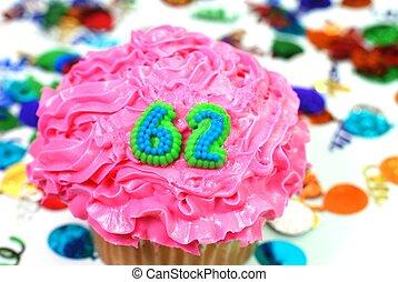 Celebration Cupcake - Number 62 - Number 62 celebration...