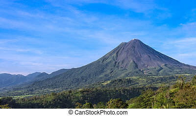 Arenal Volcano in Costa Rica - View of the Arenal Volcano in...