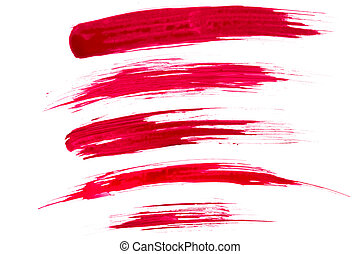 Red paint brush strokes - A high resolution image of red...