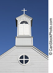 Country church - Old fashioned country church on a clear...