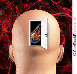 Door to mind reveals violin