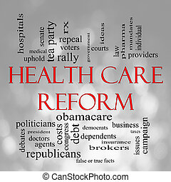Bokeh Health Care Reform Word Cloud - Health Care Reform...