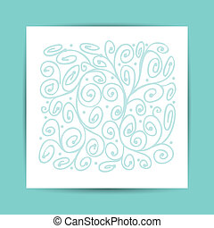 Abstract ornament, postcard for your design