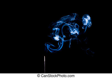 Insence with Blue Smoke