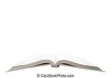 isolated blank text book