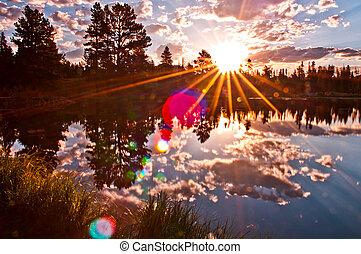 Sprague Lake Colorado - Stunning Sunrise at Sprague Lake in...