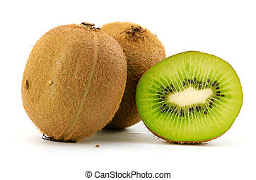 kiwi, fruta, isolado