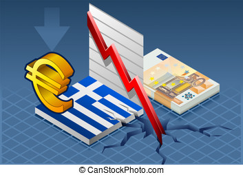 Isometric greece crisis