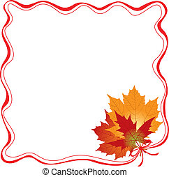 Frame with maple leaves