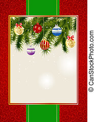 Abstract beauty Christmas and New Year invitation...