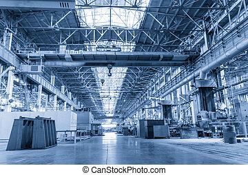 máquina, Tienda, metallurgical, trabaja
