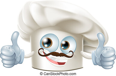 Happy cartoon chef character - A happy cartoon chef...