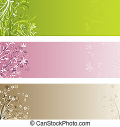 Floral panels - Various different floral backgrounds