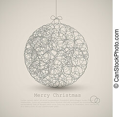 Vector modern card with abstract christmas decoration on a...