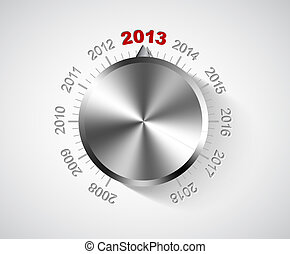 Vector 2013 New Year card - Vector 2012 New Year card with...