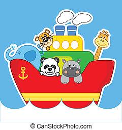 animal boat