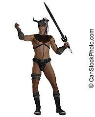 Fantasy Barbarian Swordsman