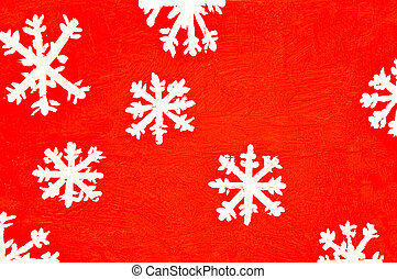 The Abstract of snowflake background