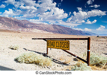 road closed - death valley national...