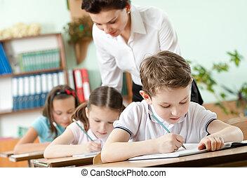 profesor, Conductas, tarea, amaestrado