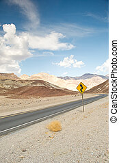 road in the death valley national park - death valley...