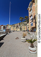 Sori, the promenade - promenade in Sori, amazing village in...