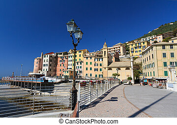 promenade in Sori, Italy - amazing promenade in Sori, small...