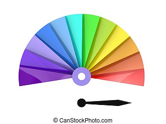Color chart - Rendered artwork with white background