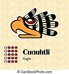 Aztec symbol Cuauhtli - Aztec calendar symbols - Cuauhtli or...