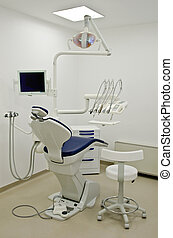 Dentist chair - A dentist chair with tools