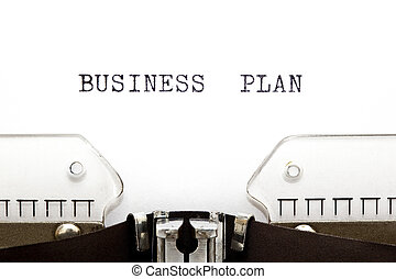 Typewriter Business Plan - Concept image with Business Plan...