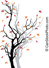 Autumn tree, vector
