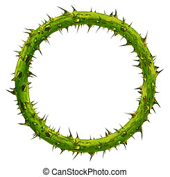 Crown Of Thorns - Crown of thorns as a circular plant branch...