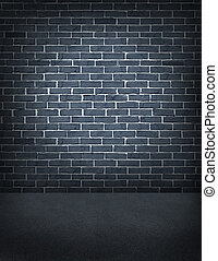 Old Outdoor Brick Wall - Old outdoor grey brick wall with...