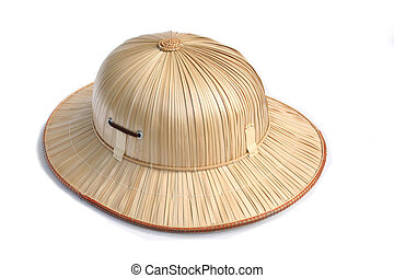 Safari hat - Safari helmet isolated in white back ground