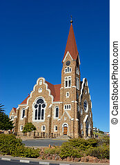 The Christuskirche in Windhoek, Namibia - The...