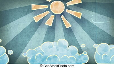 sun and clouds grunge loopable - sun and clouds grunge...