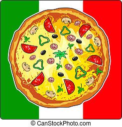 Pizza - Vector illustration of pizza