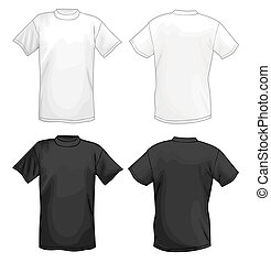 T-shirts - White and black vector T-shirt design template...