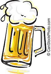 Beer - Vector illustration of beer mug isolated on white...