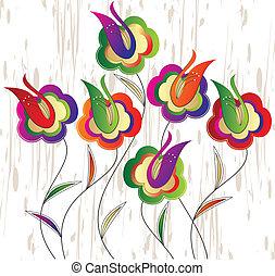 Vector fancy flowers