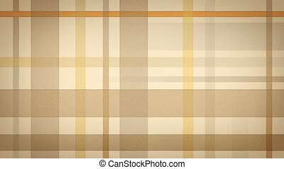 yellow brown checked fabric loop
