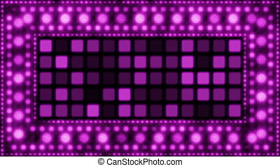 violet glittering light bulbs loop - computer generated...
