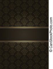 luxury background - Vector brown and gold luxury background