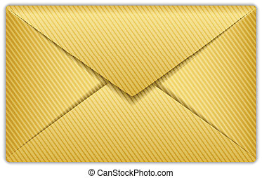 Vector illustration of gold envelope